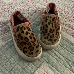 Carter Cheetah print canvas shoes size 8, toddler
